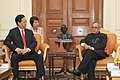 The Prime Minister of Socialist Republic of Vietnam, Mr. Nguyen Tan Dung calling on the President, Shri Pranab Mukherjee, in New Delhi on October 28, 2014.jpg
