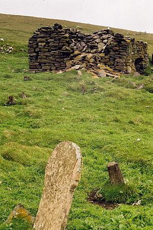 North Rona - Image: The Remains of St Ronan's Church, Rona geograph.org.uk 91788