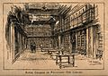 The Royal College of Physicians; the library. Wood engraving Wellcome V0013849.jpg