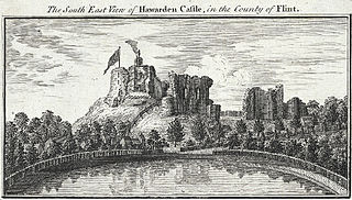 The South East View of Hawarden Castle, in the County of Flint