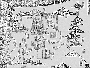 Jiankang - Map of Jiankang as the capital of the Southern Dynasties