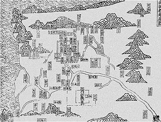 Jiankang - Map of Jiankang as the capital of the Southern Dynasties