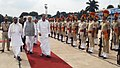 The Vice President, Shri M. Venkaiah Naidu inspecting the Guard of Honour, on his arrival, in Bengaluru, Karnataka.jpg