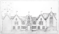 The Wodehouse, Wombourne, Staffordshire - south front - drawing - C. R. Ashbee architect.png