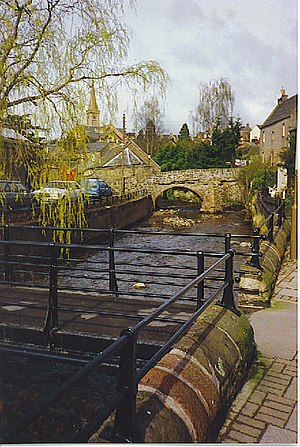 Alyth - The burn running through Alyth.