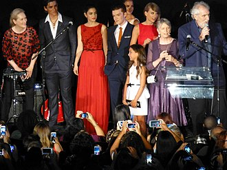 Odeya Rush - Rush with the cast of The Giver in 2014