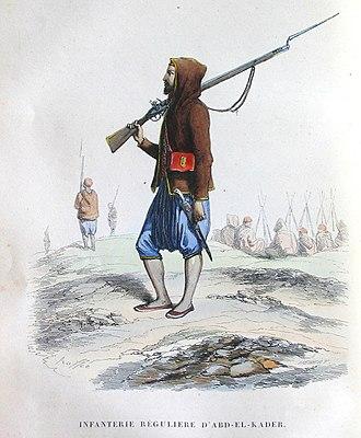 Emirate of Abdelkader - the first Algerian Resistance infantry around 1832-1847