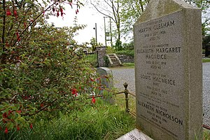 Louis MacNeice - MacNeice was buried at Carrowdore with his mother