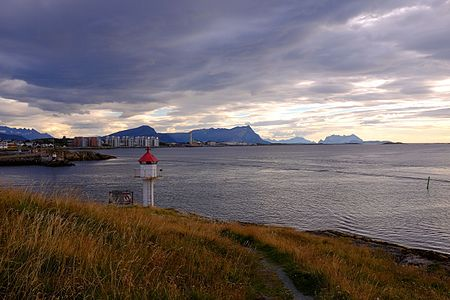 The lighthouse at Nyholmen by Bodø harbor