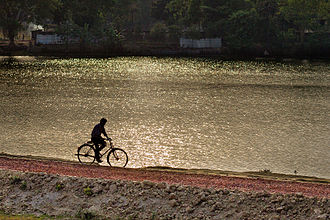 Dinajpur - Image: The lonely cyclist