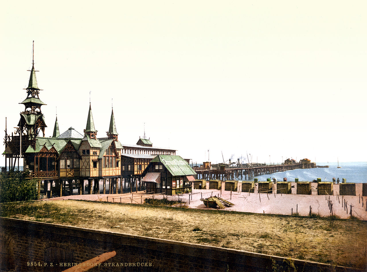 Seebad Heringsdorf Germany  city photos : ... The pier, Seebad Heringsdorf, Usedom, Pomerania, Germany, ca. 1895