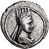 The portrait of Artavasdes II of Armenia on the obverse of a drachm, Artaxata mint.jpg