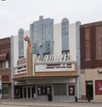 The prow-like, plumed marquee of the Lamar Theatre in downtown Lamar, the county seat of Prowers County, Colorado LCCN2015632235.tif
