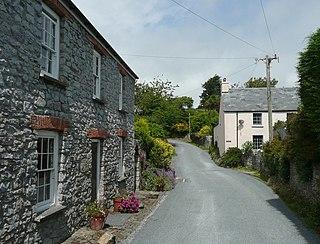 Manorbier village in United Kingdom