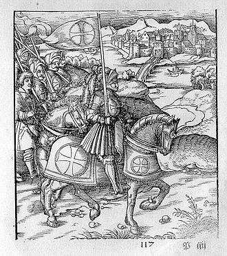 Theuerdank - Woodcut illustration by Leonhard Beck
