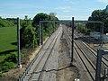 Third track under construction at Kingston station, May 2017.JPG