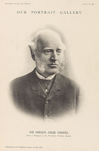 Thomas Hughes - Thomas Hughes in The Law Gazette, c. 1893