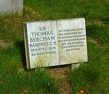 Beecham's grafsteen