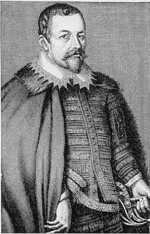 English: Thomas Bodley, the founder of Bodleia...