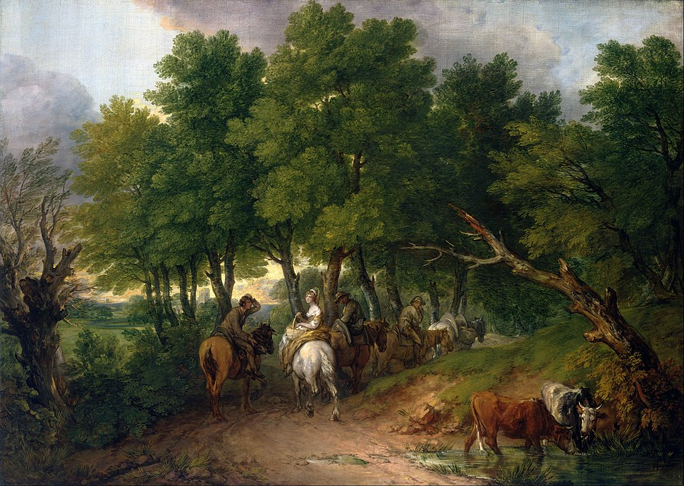 Thomas Gainsborough - Road from Market - Google Art Project
