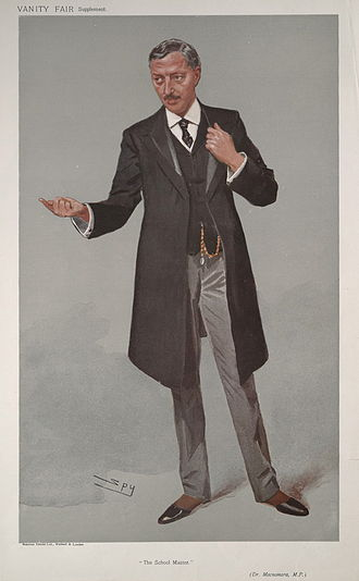 "Thomas James Macnamara - Caricature of Macnamara by ""Spy"" (Leslie Ward) in Vanity Fair magazine, 1907"