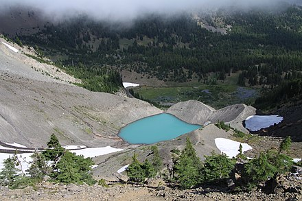 Jack Glacier and the summit lake in summer Three Fingered Jack in summer 2011 (16).JPG