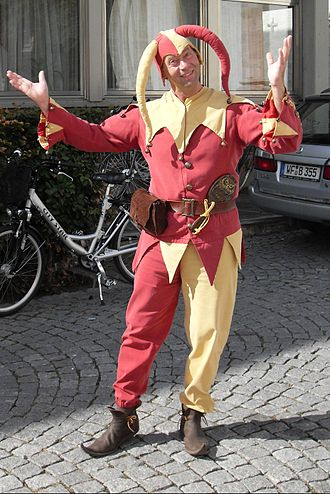 Till Eulenspiegel - Man dressed as Till Eulenspiegel at an event in Schöppenstedt
