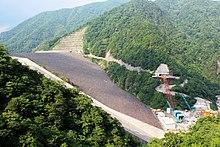 Tokuyama Dam under involved construction