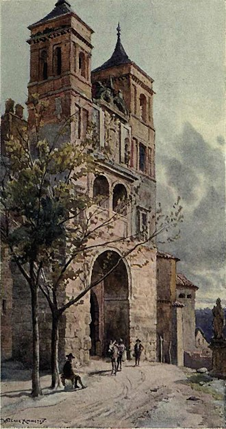 Puerta del Cambrón - Illustration by A. Wallace Rimington, published in The Cities of Spain (1909)