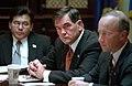 Tom Ridge attends a meeting of senior White House staff.jpg
