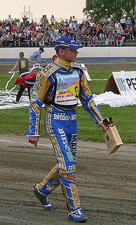 Tony Rickardsson Swedish motorcycle speedway rider