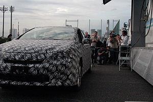 Toyota Mirai - Toyota fuel cell test mule fueling hydrogen in Tokyo.