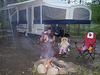 Photo of family tent-trailer camping at the KO...