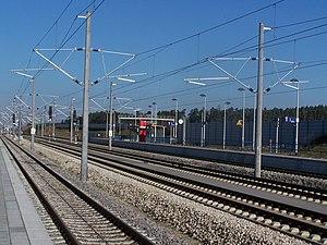 Allersberg (Rothsee) station - Nuremberg-bound platform, 2007.
