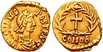 Julius Nepos on a gold Tremissis