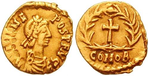 Tremissis Julius Nepos-RIC 3221