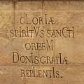 Trenčín HolyTrinity PlagueColumn HolySpirit chronogram.jpg