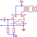 Triple-twin SE amplifier 2B6 tube.png