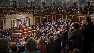 Joint session of the United States Congress - Image: Trump address to joint session of Congress