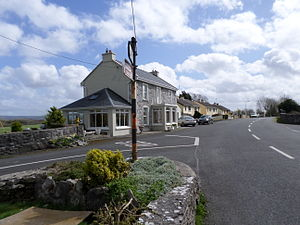 Tubber, County Clare - Part of the village of Tubber, including the village pump