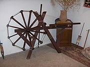 Reeling of the silk filaments onto a wheel