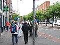 Turkish football supporters in Parnell Street, Dublin.jpg