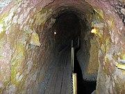 Inside a karez tunnel at Turpan, China.