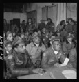 Tuskegee airmen attending a briefing 13260u.tif