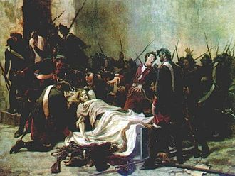 Ivan VI of Russia - Mirovich Standing over the Corpse of Ivan VI (1884). by Ivan Tvorozhnikov