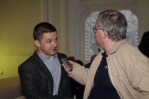 Tvrtko Jakovina - Jakovina giving an interview at the 2010 Subversive Festival in Zagreb