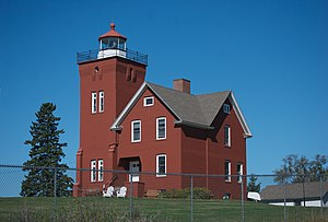 Two Harbors Light - Image: Two Harbors Light Minnesota