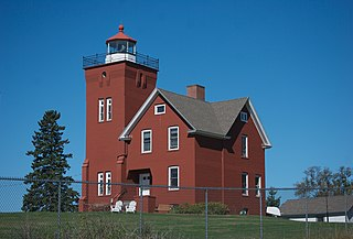 Two Harbors Light lighthouse in Minnesota, United States