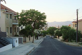 Neighbourhood - Typical Cypriot neighbourhood in Aglandjia, Nicosia, Cyprus