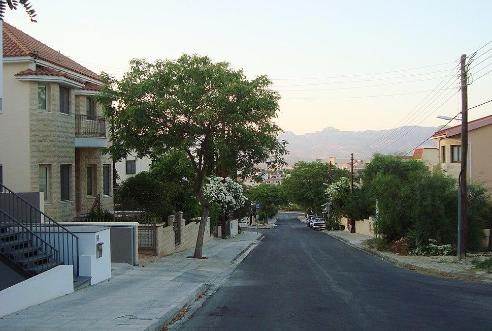 Typical cypriot Neighbourhood in Aglandjia Nicosia Republic of Cyprus